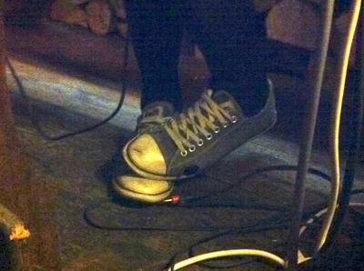 my friend calls these my 'happy feet' dj-ing at a local pub.